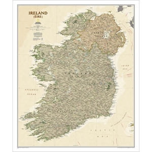 Picture of National Geographic Ireland Executive Wall Map