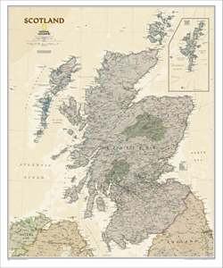 Picture of National Geographic Scotland Excutive Wall Map