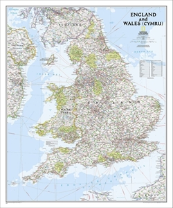Picture of National Geographic England and Wales Wall Map