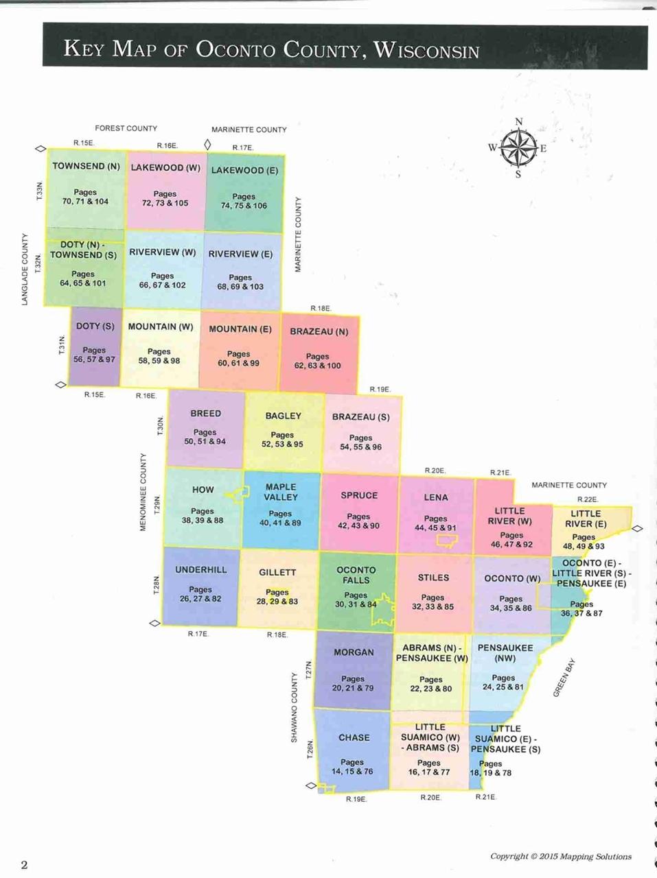 City Of Oconto Atv Map