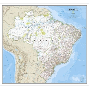 Picture of National Geographic Brazil Wall Map