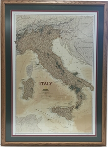 Picture of Italy Executive Gallery Map