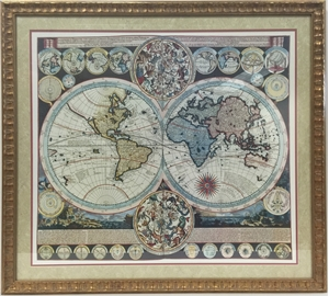 Picture of Zurner's Map of the World in 1710
