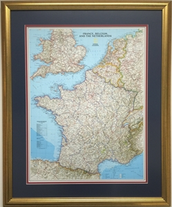 Picture of France, Belgium, and The Netherlands Gallery Map