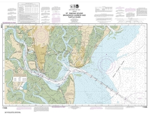 Picture of 11506 - St. Simons Sound, Brunswick Harbor And Turtle River Nautical Chart