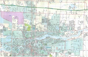 Picture of Elkhart, Goshen, IN street map