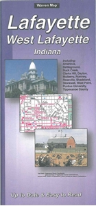 Picture of Lafayette, West Lafayette, Indiana Folded City Street Map