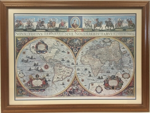 Picture of Blaeu's World Map in 1665