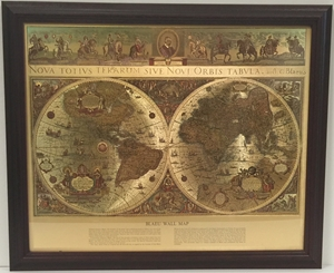 Picture of Blaeu World Map