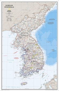 Picture of National Geographic Korean Peninsula Wall Map