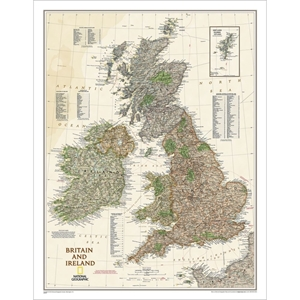 Picture of National Geographic Britain and Ireland Executive Wall Map