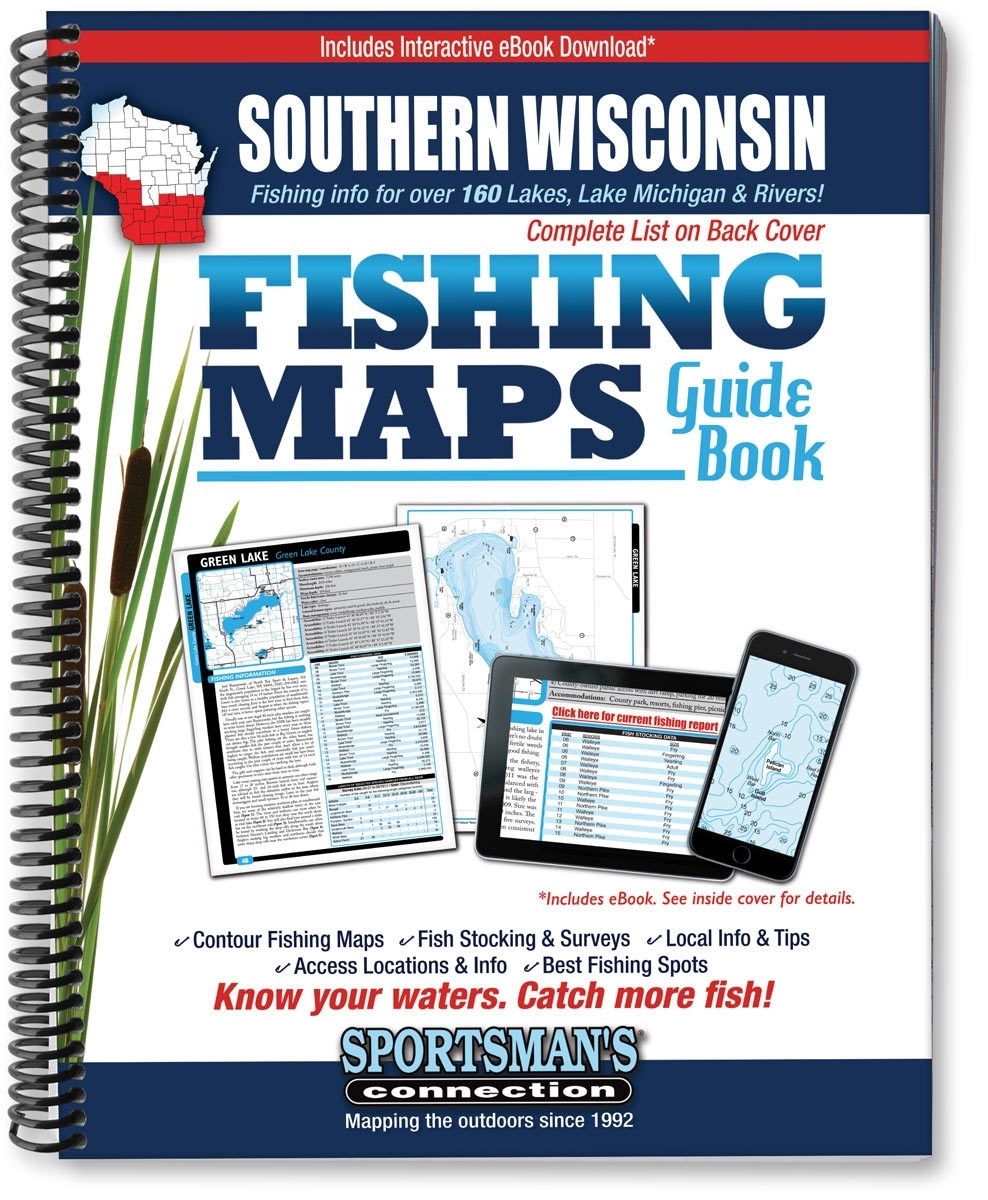 Themapstore sportsman 39 s connection southern wisconsin for Wisconsin fishing guides