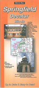 Picture of Springfield, Decatur, Illinois Folded City Street Map