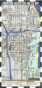 Streetwise Chicago Map.Themapstore Streetwise Downtown Chicago Bus Cta Metra Map