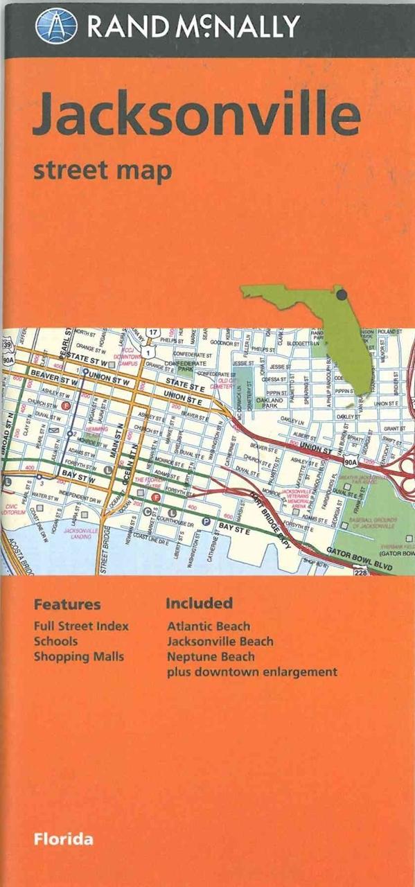 map TheMapStore Florida | Jacksonville, street