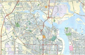Jacksonville, FL street map
