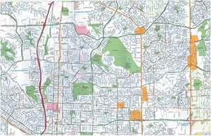 Picture of Colorado Springs, Colorado Street Map