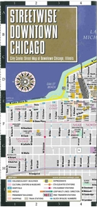Streetwise Chicago Map.Themapstore Streetwise Downtown Chicago Map
