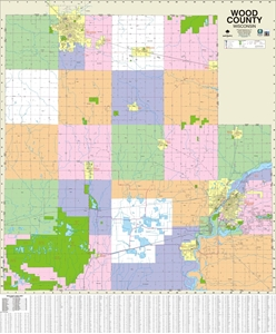 Picture of Wood County Wisconsin Wall Map