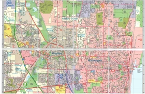 Picture of Gurnee & Waukegan Folded EasyFinder Map