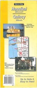 Hannibal, Missouri & Quincy, Illinois Folded Street Map on illinois state map missouri, map of streets in hannibal, map downtown hannibal,