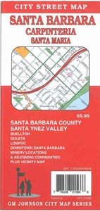 Picture of Santa Barbara, Carpentaria, Santa Maria, Lompoc, California City Street Map