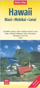 Picture of Nelles Map Hawaii - Maui, Molokai, Lanai