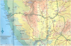 Picture of International Travel Maps - Namibia