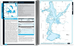 Picture of Northwest Wisconsin Fishing Map Guide - Southern Region