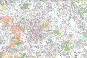 Picture of Raleigh, Durham, NC street map