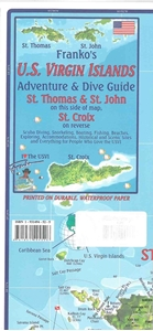 Picture of Franko's Guide Map of the U.S. Virgin Islands