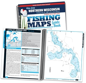 Picture of Northern Wisconsin Fishing Map Guide - Vilas Area