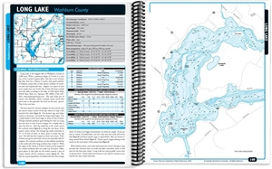 Picture of Northwest Wisconsin Fishing Map Guide - Northern Region