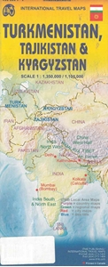 Picture of International Travel Maps - Turkmenistan, Tajikistan and Kyrgyzstan