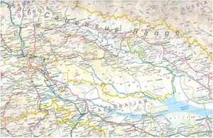 Picture of International Travel Maps - Armenia and Azerbaijan