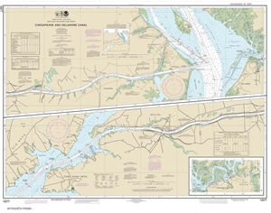 Picture of 12277 - Chesapeake And Delaware Canal Nautical Chart