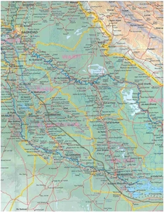 Picture of International Travel Maps - Iraq & Baghdad