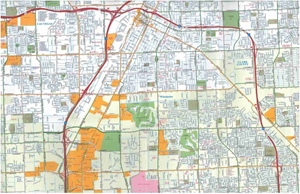 Picture of Las Vegas, NV Street map
