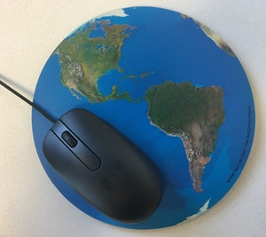Picture of A Satellite View of the World Computer Mouse Pad