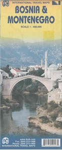 Picture of International Travel Maps - Bosnia & Montenegro