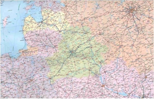 Picture of International Travel Maps - Europe Railway & Road Travel Map