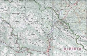Picture of International Travel Maps - Jasper & Banff Nat'l Parks