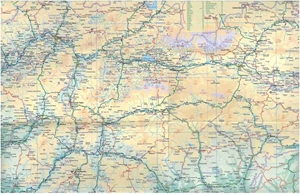 Picture of International Travel Maps - Slovakia & Hungary