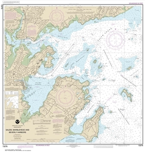 Picture of 13276 - Salem Harbor, Marblehead Harbor And Beverly Harbor Nautical Chart