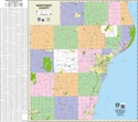 "Picture of Manitowoc County Wisconsin Wall Map SIZE 44 "" x 40"""