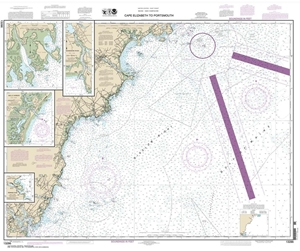 Picture of 13286 - Cape Elizabeth To Portsmouth Nautical Chart