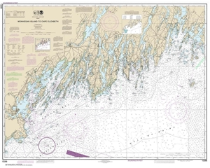 Picture of 13288 - Monhegan Island To Cape Elizabeth Nautical Chart