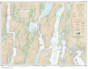 Picture of 13296 - Boothbay Harbor To Bath, Including Kennebec River Nautical Chart