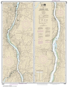 Picture of 13297 - Kennebec River - Courthouse Point To Augusta Nautical Chart