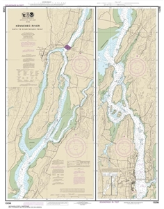 Picture of 13298 - Kennebec River - Bath To Courthouse Point Nautical Chart